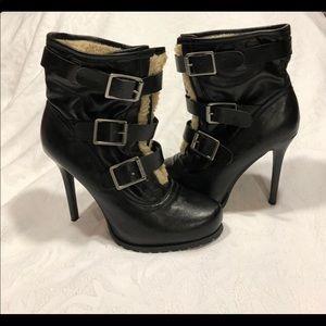 Simply Vera Wang Buckle Heeled Boots
